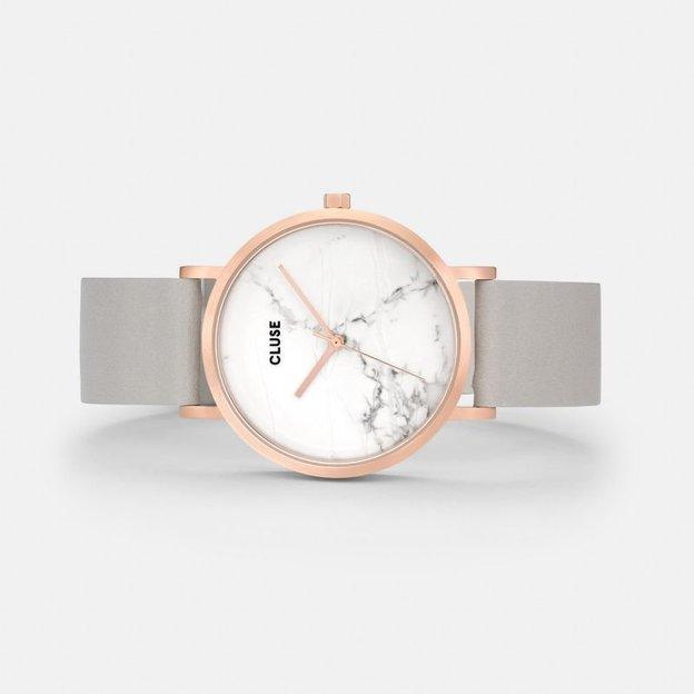 Cluse Montre femme La Roche marbre / gris / or rosé