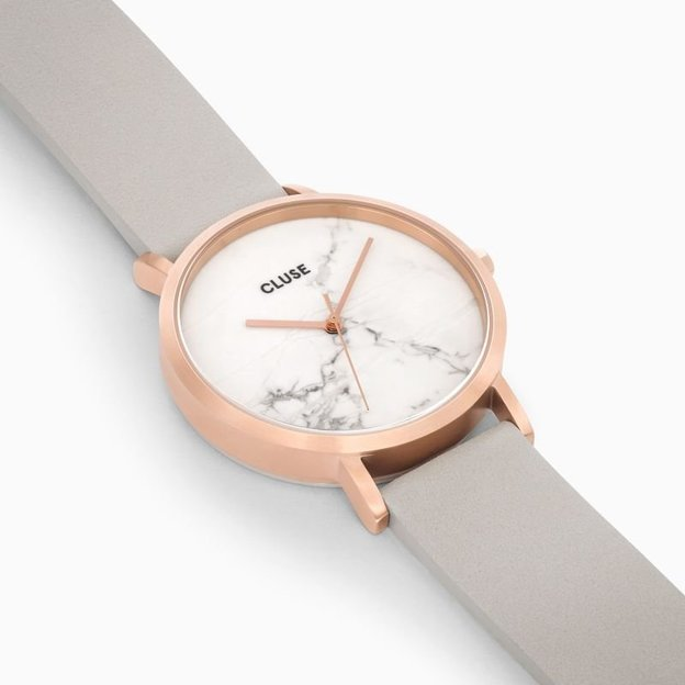 Cluse La Roche Rose Gold White Marble/Grey