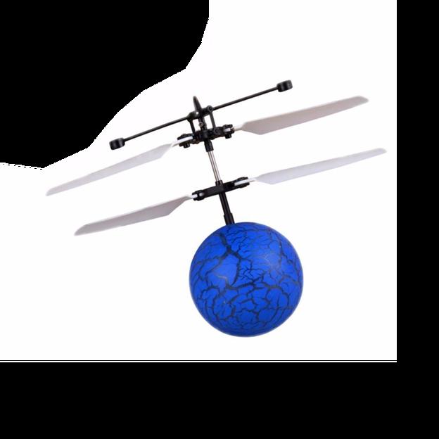 Balle volante hélicoptère avec senseur - bleue