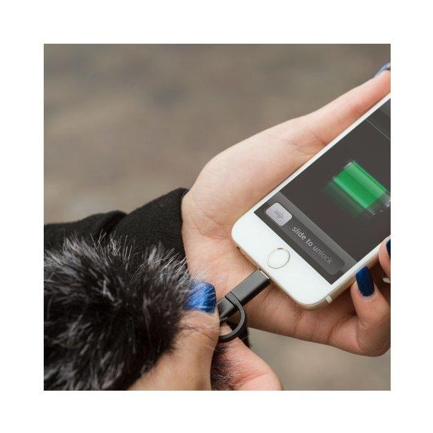 Ladekabel 2in1 Pom Pom für Smartphones