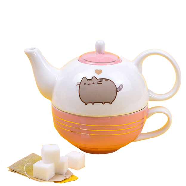 Théière avec tasse Pusheen le chat