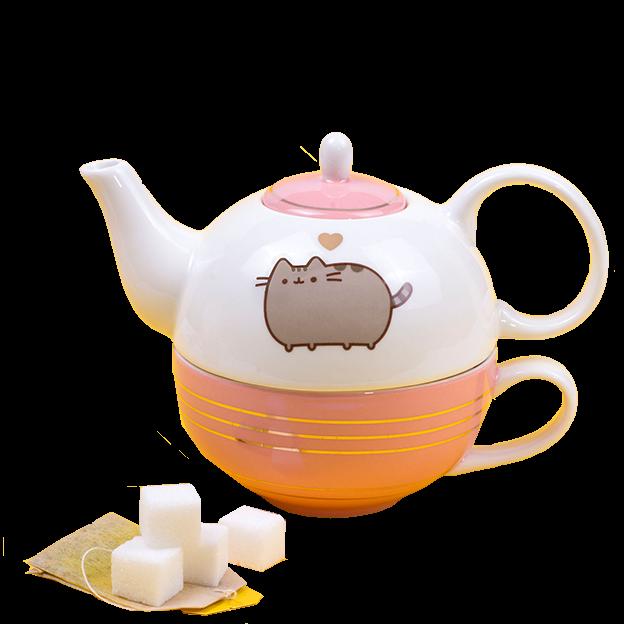 Pusheen - Teekanne mit Tasse