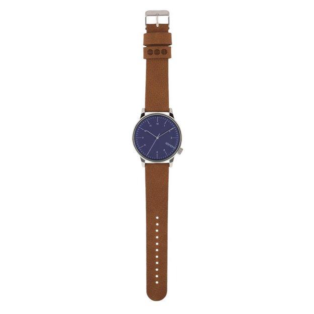 Komono Armbanduhr Winston Blue Cognac