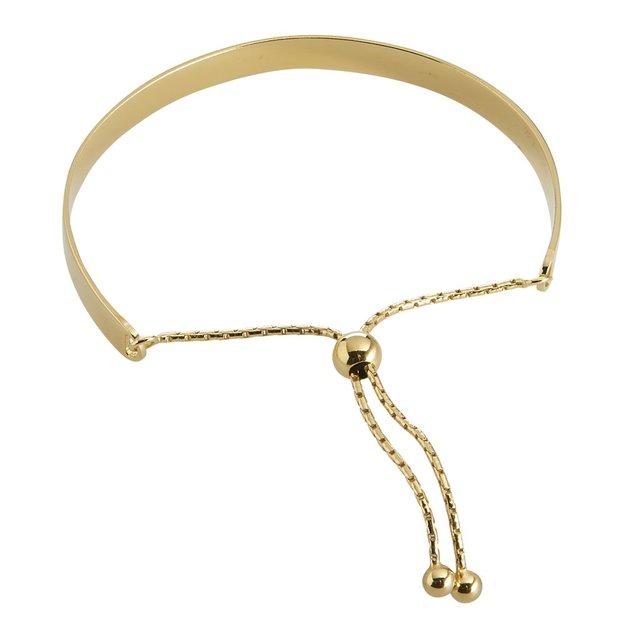 Bracelet personnalisé en argent 925 doré avec symbole
