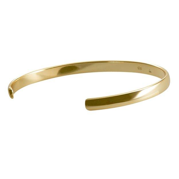 Personalisierbarer Armreif 925 Silber vergoldet