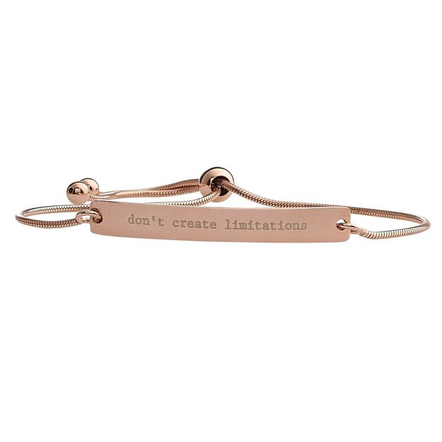 Personalisierbares Armband Anna 925 roségold