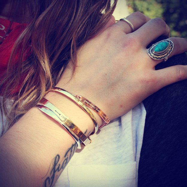 Bracelet personnalisé en argent 925, or rose