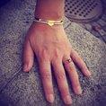 Personalisierbares Perlenarmband Louisa 925 vergoldet