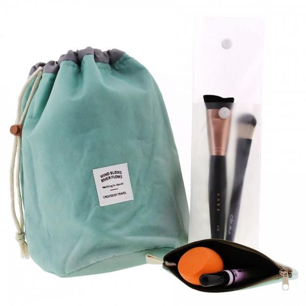 Kosmetiktasche Reisebeutel Make Up blau