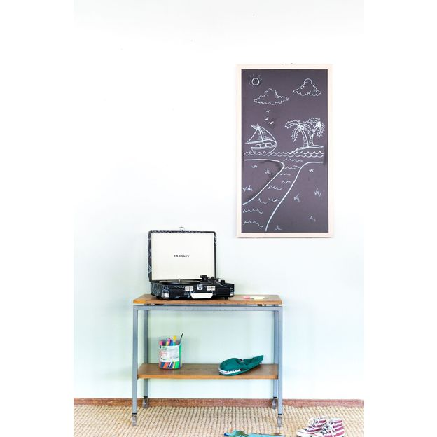 tourne disque crosley cruiser avec tableau noir craie et ponge. Black Bedroom Furniture Sets. Home Design Ideas