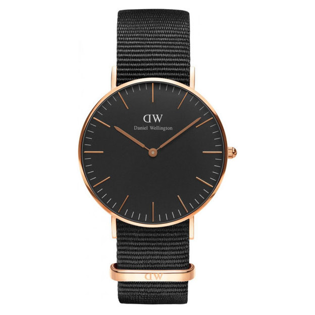 Daniel Wellington Classic Black Cornwall Lady Ø 36mm rosé-gold