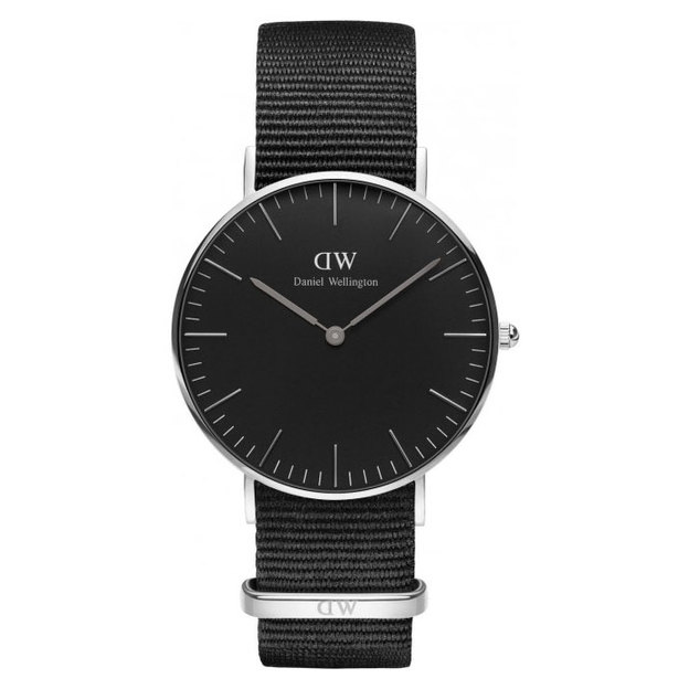 Daniel Wellington Classic Black Cornwall Lady Ø 36mm silber