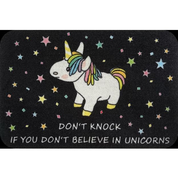 Paillasson Licorne Don't knock if you don't believe in unicorns