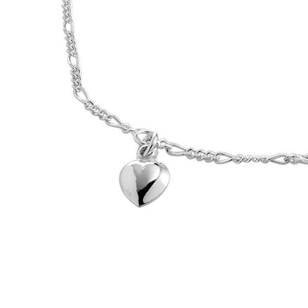 Bracelet de baptême personnalisable cœur argent