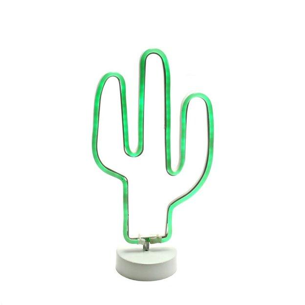 Dekoleuchte Neon-Kaktus