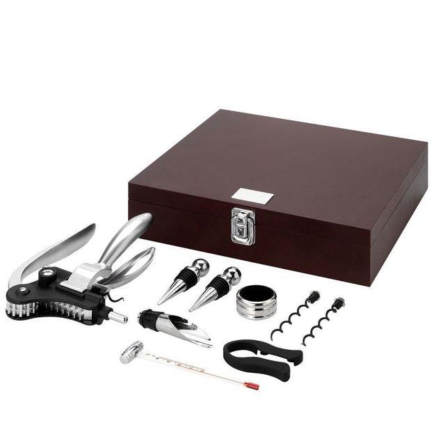 Weinaccessoire-Set in schöner Holzbox