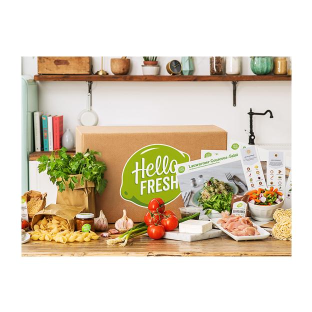 HelloFresh Kochbox Classic Gutschein im Wert von 89.90 - 3 Mahlzeiten