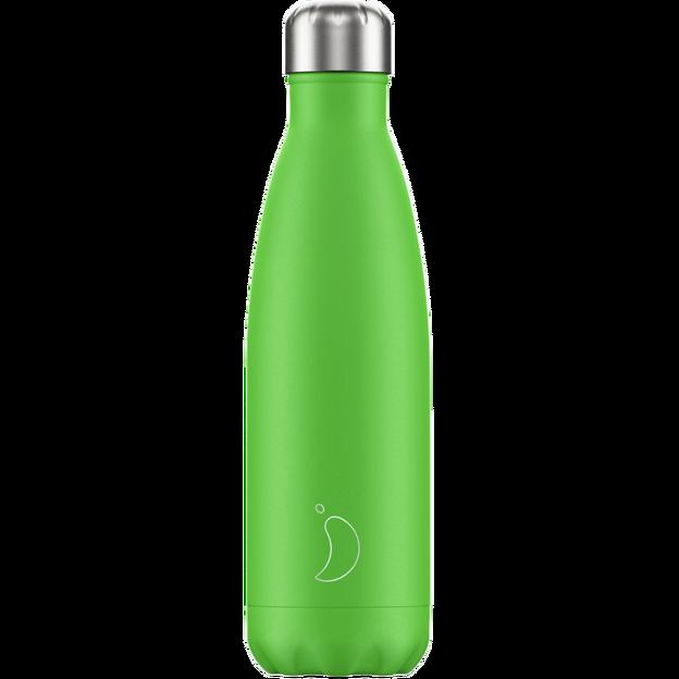 Chilly's Bottles Neon Edition, Trinkflasche-Grün Neon-500ml