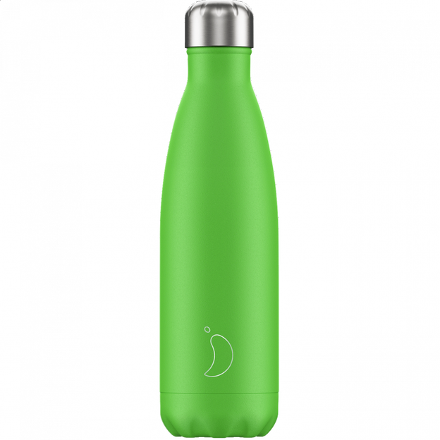 Chilly's Bottles Neon Edition, Trinkflasche-Grün Neon-500ml