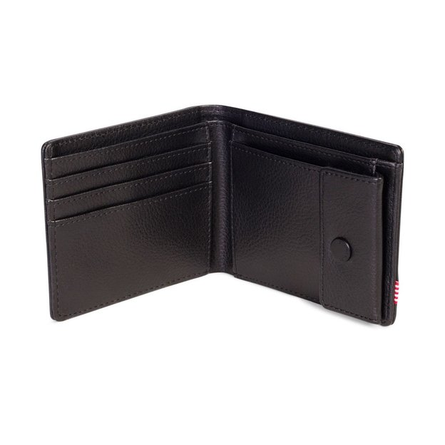 Herschel Porte-monnaie Hank + Coin Leather RFID - noir
