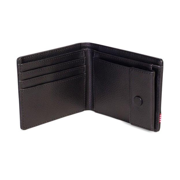 Herschel Portemonnaie Hank + Coin Leather RFID Black