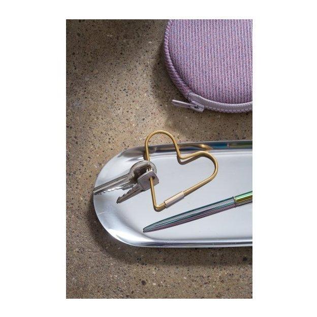 Schlüsselring Hello Heart gold