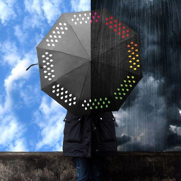 Parapluie interactif avec changement de couleur
