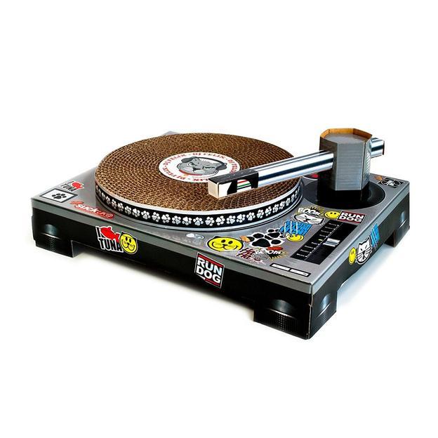 Katzen Kratzbrett DJ Scratching Deck