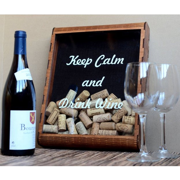 Cadre vitrine pour bouchons de vin