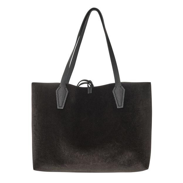 Guess Handtasche Bobbi wendbar Velvet Black