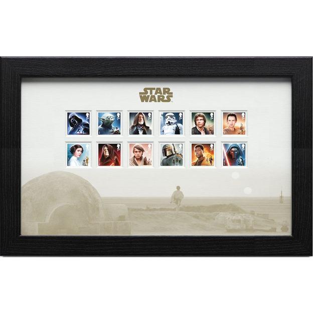 Star Wars Briefmarken im Rahmen