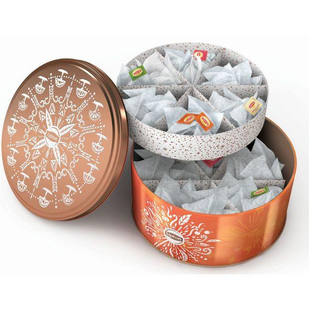 Lipton Tee Geschenkbox - Guetslibüchse und Teebeutelspender in einem