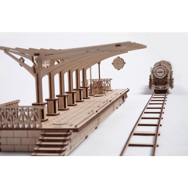 Perron de gare – Puzzle 3D mécanique en bois Ugears