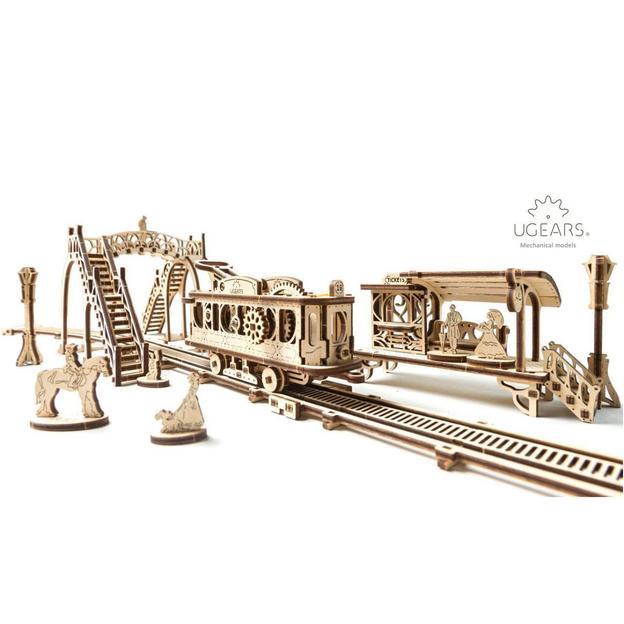 Ligne de tram – Puzzle 3D mécanique en bois