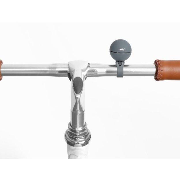 Fahrradklingel magnetisch Nello mit 3 Klingeltöne grau
