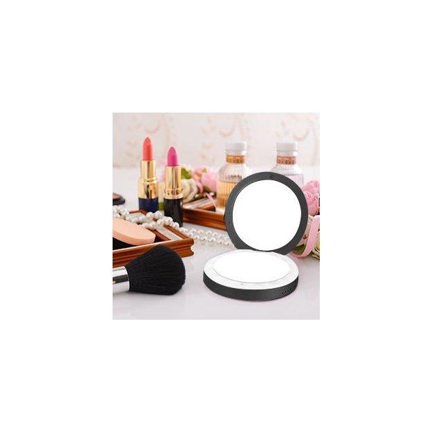 LED Makeup Spiegel mit Powerbank schwarz