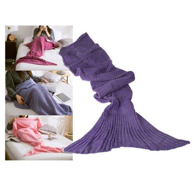 Personalisierbare Kuscheldecke Meerjungfrau lila