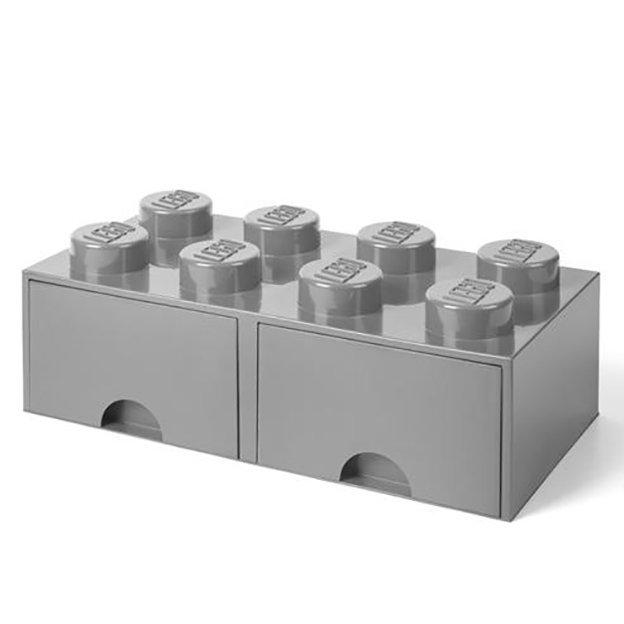 LEGO Aufbewahrungsbox Room Copenhagen mit Schubladen, grau