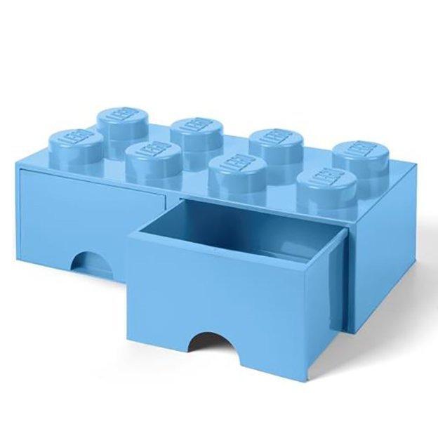 LEGO Aufbewahrungsbox Room Copenhagen mit Schubladen, hellblau