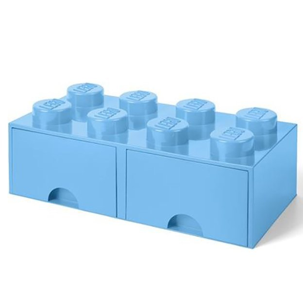 LEGO Boîte avec tiroirs Room Copenhagen, bleu clair