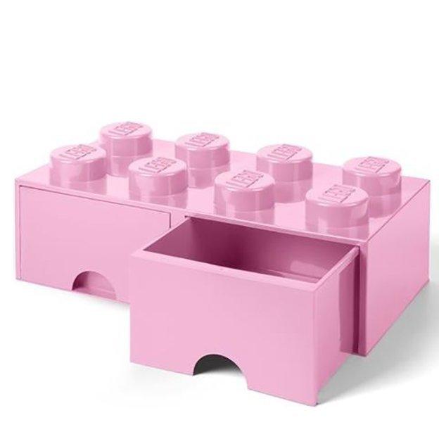 LEGO Aufbewahrungsbox Room Copenhagen mit Schubladen, pink