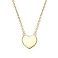 Personalisierbare Halskette Herz gold