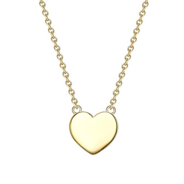 Personalisierbare Halskette Herz Leonie gold
