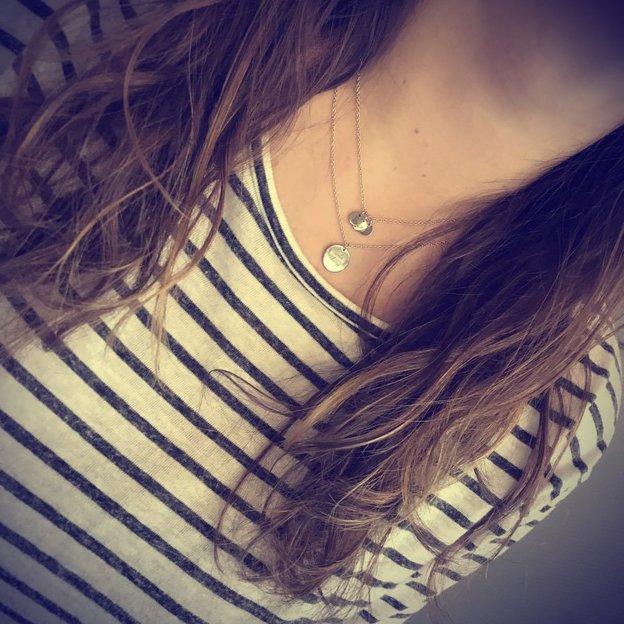 Personalisierbare Halskette Gloria silber