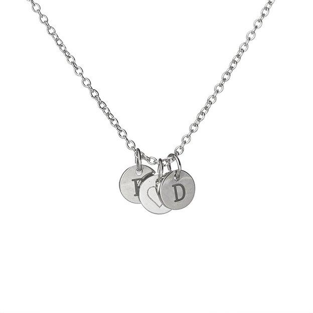 Personalisierbare Halskette Herz Vera silber