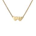 Personalisierbare Halskette 2 Herzen Silber vergoldet