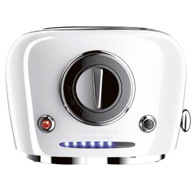 TIX POP UP-Toaster, weiss VICEVERSA