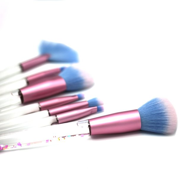 Pinceaux de maquillage à paillettes mouvantes, set de 7