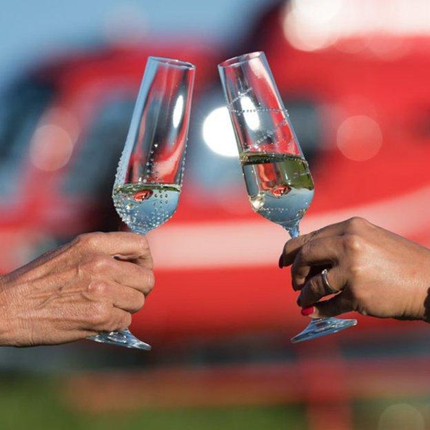 Coupes à champagne Bohemian Grace Tethys avec cristaux Swarovski, set de 2