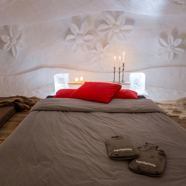 Nuit dans un igloo et repas du soir à 2000 m d'altitude, Adelboden (1 pers.)